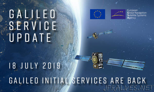 Galileo Initial Services have now been restored