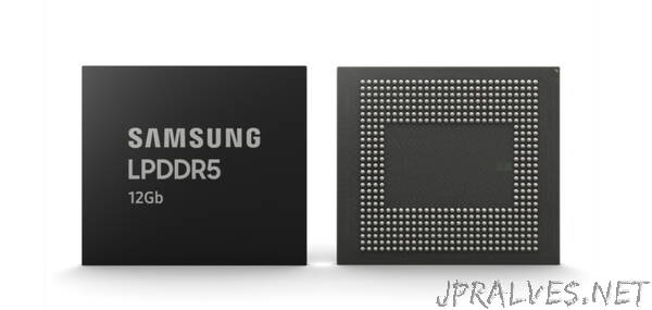 Samsung Begins Mass Production of Industry's First 12Gb LPDDR5 Mobile DRAM for Premium Smartphones