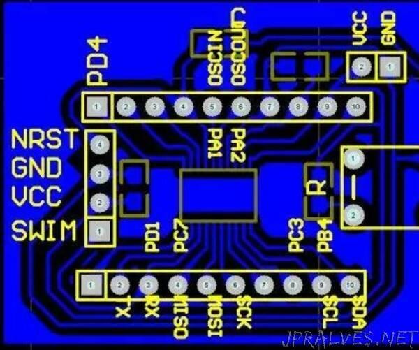 Homemade STM8 Development Board