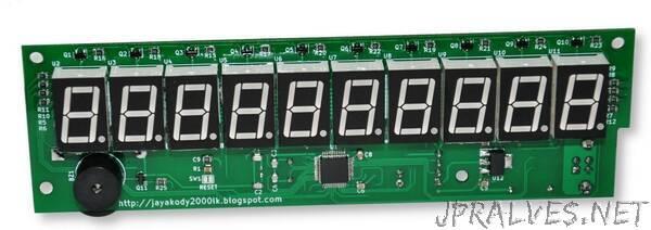 USB 10-digit Seven Segment Display Module