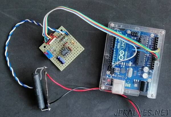 A simple circuit for measuring electrical current with Arduino