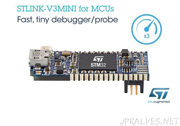 Compact, Convenient, STLINK-V3MINI Debug Probe from STMicroelectronics Accelerates STM32 Application Development