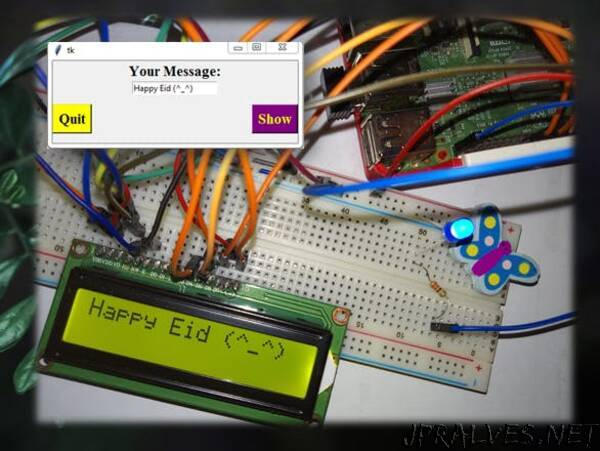Interfacing 16×2 LCD in Raspberry Pi Using Python & Tk Tools