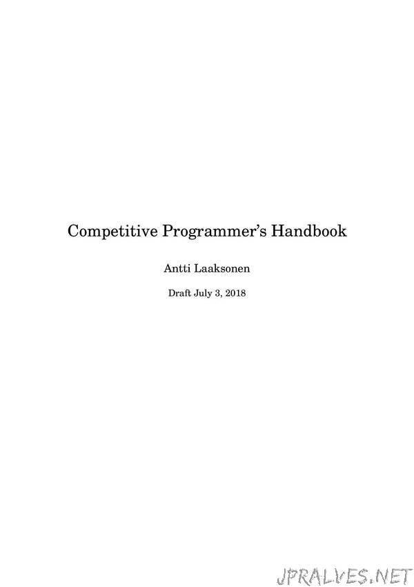 Competitive Programmer's Handbook
