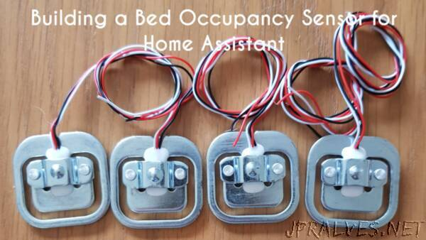 Building a bed occupancy sensor for Home Assistant