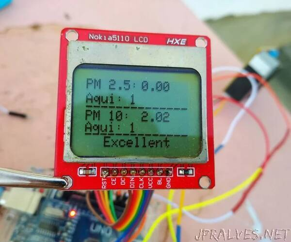 Air Quality Monitoring With DSM501A With Nokia LCD