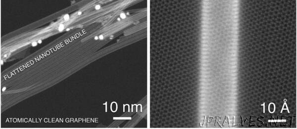 Graphene substrate improves the conductivity of carbon nanotube network