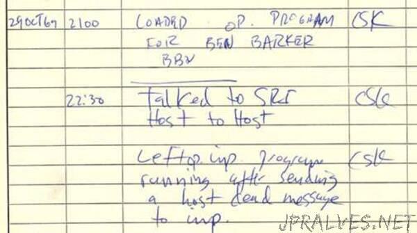 ARPANET establishes 1st computer-to-computer link, October 29, 1969