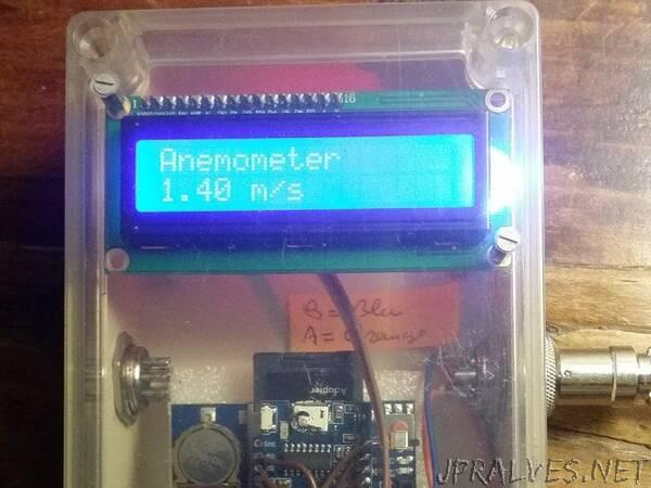 Arduino / ESP8266 RS485 MODBUS Anemometer
