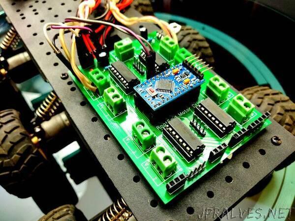 Arduino Motor Shield PCB V1 | 4 Motors at Once
