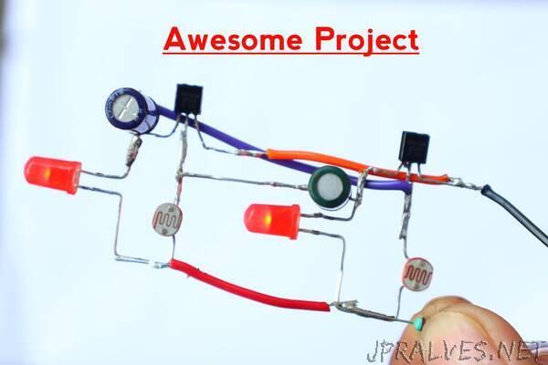 Light Sensitive Double LED Blinker