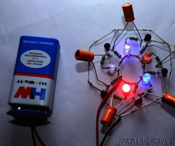 Nice Effect LED Chaser Circuit Using BC547