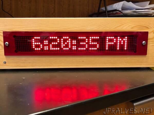 Chiming, Scrolling LED Matrix Clock