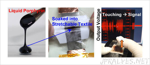 Development of a Stretchable Vibration-Powered Device Using a Liquid Electret