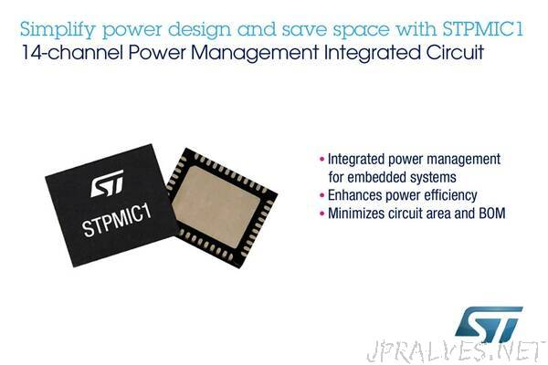 Fully Integrated Power-Management IC from STMicroelectronics Saves Board Space, Bill of Materials, and Power Consumption