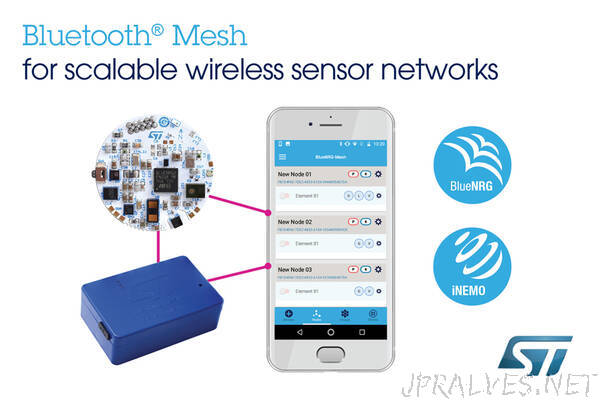 STMicroelectronics Unleashes Full Power of Bluetooth® Mesh to Enable Scalable Wireless Sensor Networks