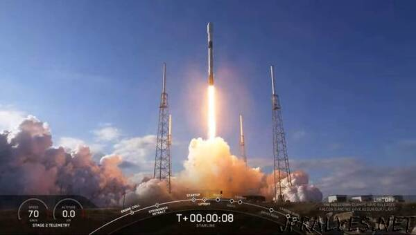 SpaceX launches 60 new Starlink satellites, sticks rocket landing at sea