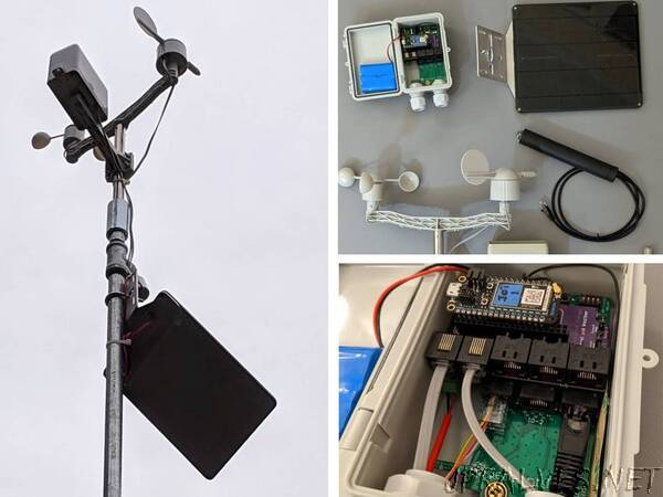 Solar Powered Cellular Weather Station