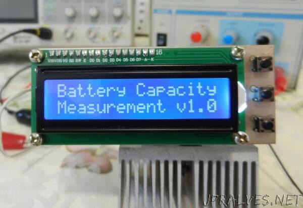 Battery (Lithium, NiMH, NiCd) Capacity Tester Using Arduino