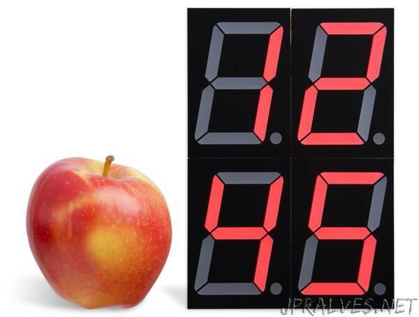 Big digit 7-segment Clock using ATtiny3216