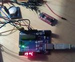 Central Thermal Reglable Thermostat And Clock With Arduino