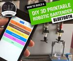 Arduino Robotic Bartender - 3D Printable & Bluetooth