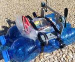 UChip RC Boat Out of Plastic Bottles and CD-ROM Player!