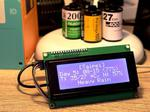 Web Weather Forecast Display on ESP8266 and MicroPython